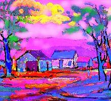 The Fauve Village by Richard  Tuvey