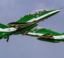 Saudi Hawks en Passant by Colin Smedley
