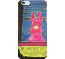 bunny building two iPhone Case/Skin