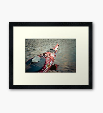 About to hit the water Framed Print