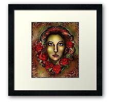 Roses in her Hair Framed Print