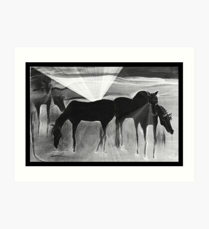 After the Gold Rush - Ghost Ponies Art Print