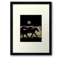 After the Gold Rush River Ponies 1 Framed Print