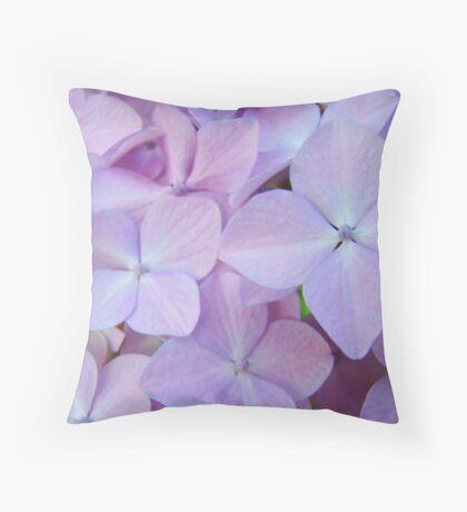 Hydrangea Flowers Gardens art prints Baslee Troutman Throw Pillow