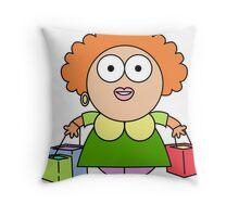 wal mart shopper 2 Throw Pillow