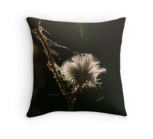 White and fluffy Throw Pillow