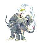 Splashing Elephant! by Panagis