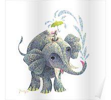 Splashing Elephant! Poster