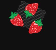 Bold Strawberries Pattern Womens Fitted T-Shirt