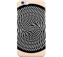 Modern Simple Stripes Pattern Circle iPhone Case/Skin