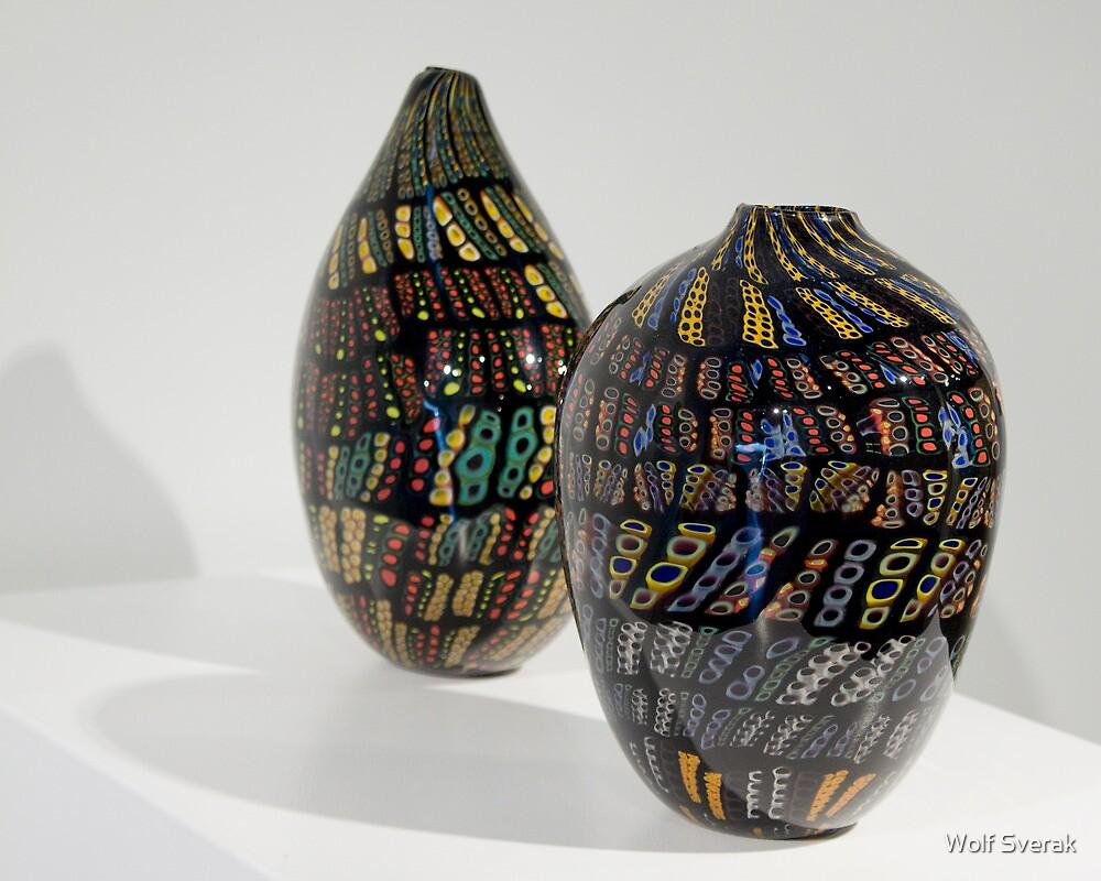 Glass art by Wolf Sverak