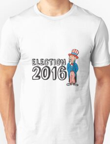 Election 2016 Uncle Sam Shouting Retro T-Shirt