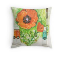 Poppy with medium Throw Pillow