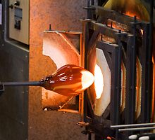 A glassblower at work by Wolf Sverak