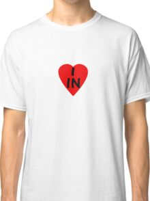 I Love Country Code IN-India T-Shirt & Sticker Classic T-Shirt