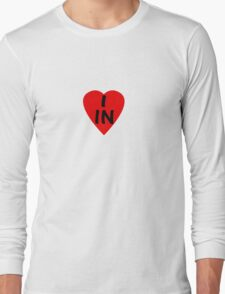 I Love Country Code IN-India T-Shirt & Sticker Long Sleeve T-Shirt
