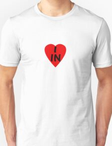 I Love Country Code IN-India T-Shirt & Sticker T-Shirt