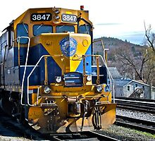 New England Central Railroad - Power Unit #3847 - 2000 Horsepower by Jack McCabe