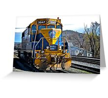 New England Central Railroad - Power Unit #3847 - 2000 Horsepower Greeting Card