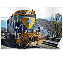 New England Central Railroad - Power Unit #3847 - 2000 Horsepower Poster
