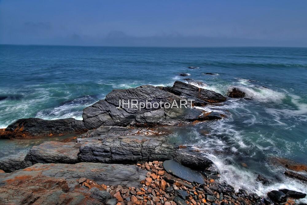 Rocky Shore- Newport by JHRphotoART