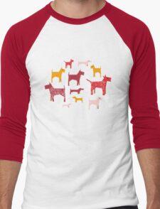 Dogs Funny Men's Baseball ¾ T-Shirt
