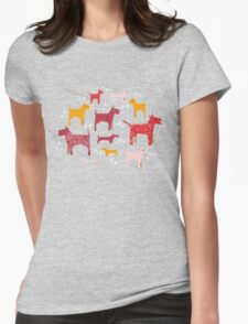 Dogs Funny Womens Fitted T-Shirt