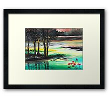 Flow of time Framed Print