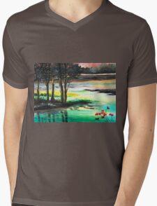 Flow of time Mens V-Neck T-Shirt
