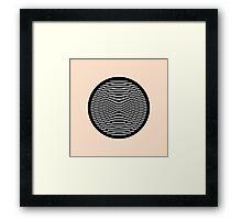 Simple Modern Stripes Circular Print Framed Print