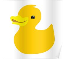 Simple yellow ducky Poster