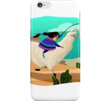 Llama Races iPhone Case/Skin