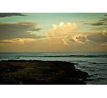 Dusk at the beach - San Juan, La Union Photographic Print