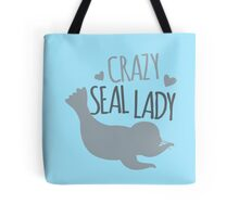 Crazy Seal Lady Tote Bag