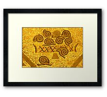 mosaic of snails Framed Print
