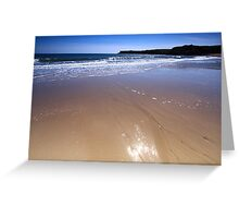Broad Haven, Pembrokeshire -Sand Reflections Greeting Card