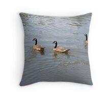Flocking Throw Pillow