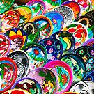 Colourful Mexican Pottery in Playa del Carmen, south of Cancun by Atanas Bozhikov NASKO