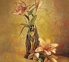 Vintage Lilies by Irene  Burdell