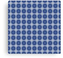 Blue and white oriental pattern Canvas Print