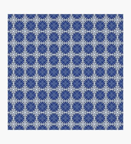 Blue and white oriental pattern Photographic Print