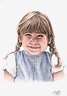 Sweet Little Girl Portrait by Nicole Zeug