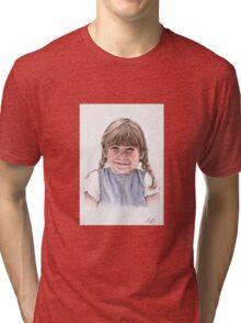 Sweet Little Girl Portrait Tri-blend T-Shirt