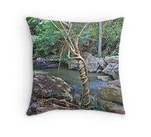 Tree strangles another tree Throw Pillow