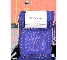 Train Seat Photographic Print