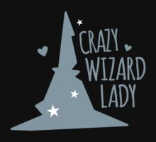 Crazy Wizard Lady Kids Tee