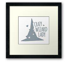 Crazy Wizard Lady Framed Print