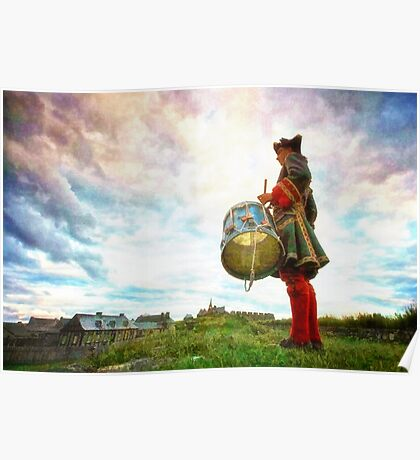 Drummer at the Fortress of Louisbourg Poster