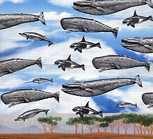 Dreaming of Whales in the Desert (Carnivalesque Collage Series) by Ms. Creant