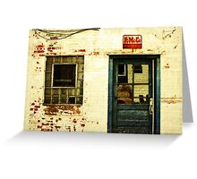 an old facade Greeting Card